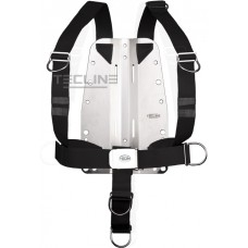 Tecline rustfri Bagplade 6mm med DIR harness