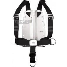 Tecline rustfri Bagplade 3mm med justerbar harness